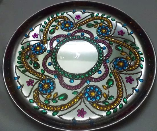 17 best images about aarthi plates on pinterest rakhi for Aarti thali decoration with grains