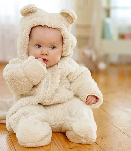 Ok, babies dressed as bears....it doesn't get cuter.  Cozy Bear Snowsuit from LL Bean FTW!