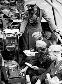 Heinz Guderian in the Battle of France, with an Enigma machine  https://sites.google.com/site/warrenbellauthor/