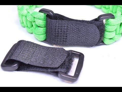 Strapz - Adjustable Velcro Buckles for Paracord Bracelets - BoredParacord - YouTube