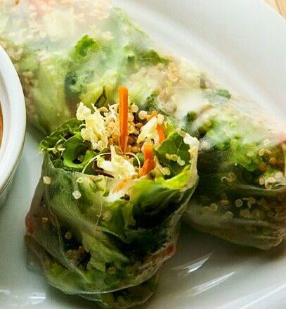 Sesame-ginger And Quinoa Spring Rolls Recipe — Dishmaps