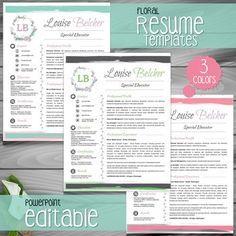 The 25 best ms power point presentation ideas on pinterest teacher resume template cover letter references floral powerpoint editable toneelgroepblik Gallery