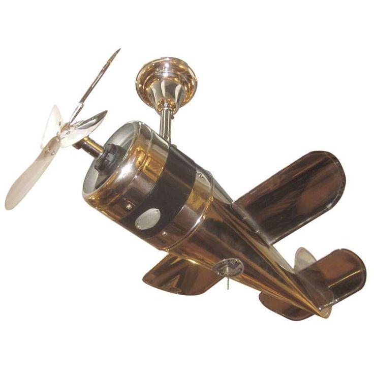 1930's Art Deco Airplane Ceiling Fan 1