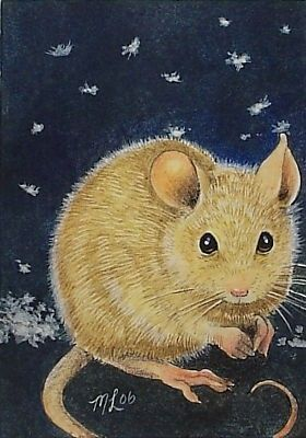 ACEO OE Giclee Print Mouse Art  Melody Lea Lamb by MelodyLeaLamb, $6.25