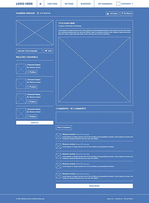 Social Network - Ui / UX by Waseem Arshad, via Behance