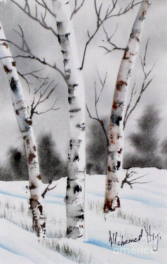 Birches Painting  - Birches Fine Art Print