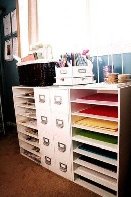 craft room ideas & The 37 best DIY Flat File images on Pinterest | Storage Workshop ...