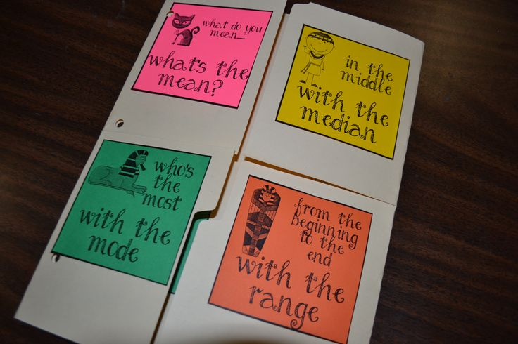 """GREAT freebie for making a """"lap book"""" for teaching mean, median, mode, and range!"""