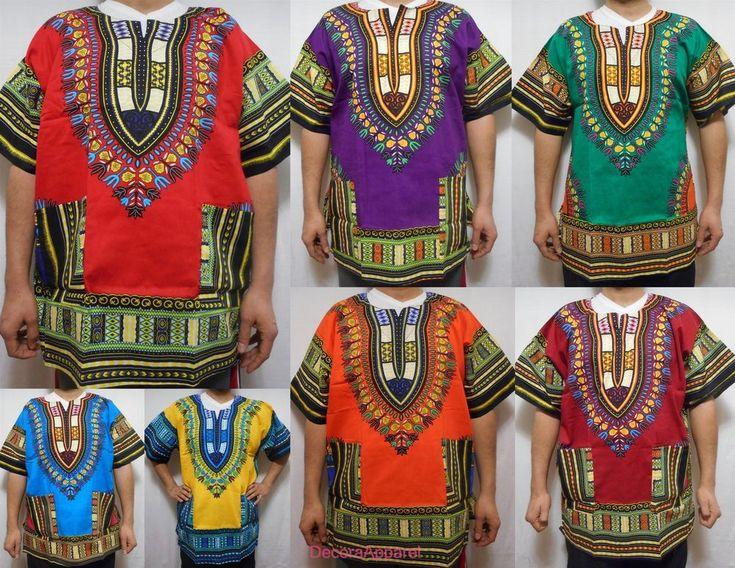 Men Dashiki Boho Tribal Shirt African Vintage Hippie Blouse Women Blouse S M L #Handmade #Dashiki