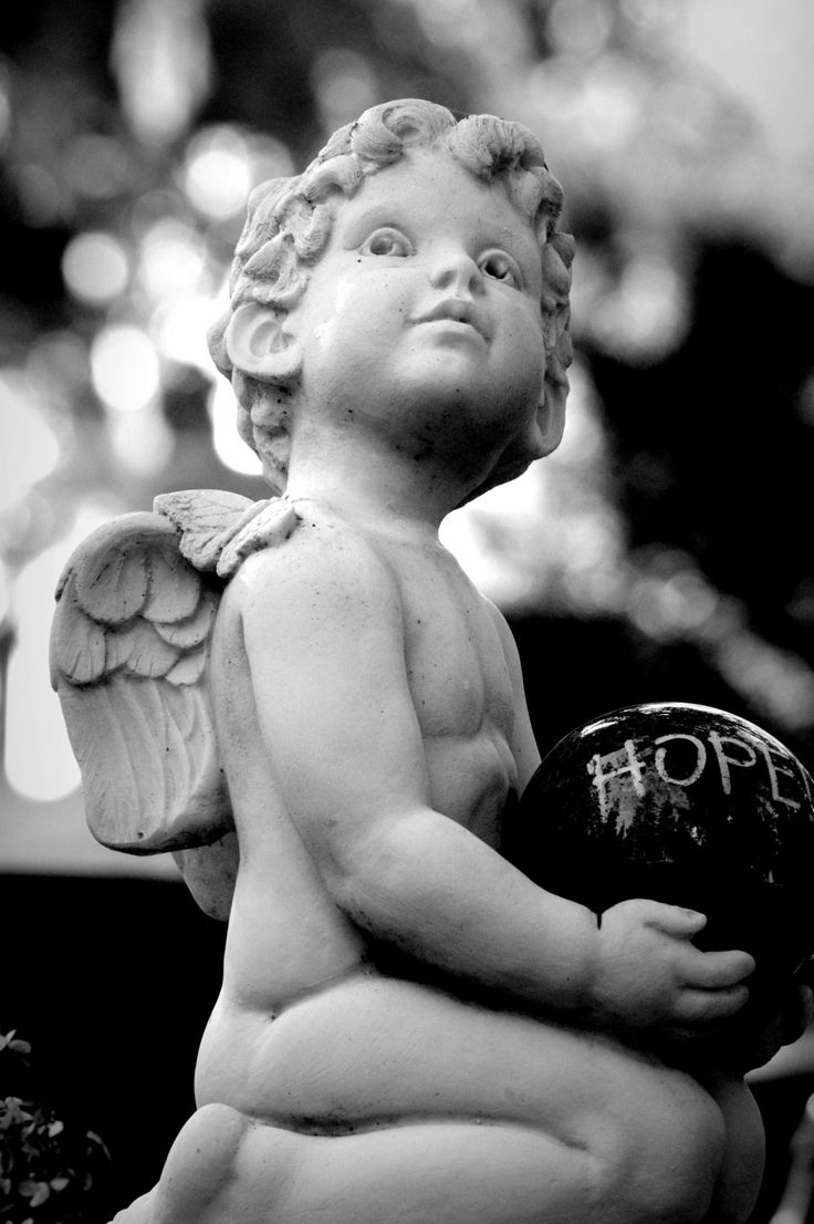 Hope; Beautiful Little Angel in the Evening Light; Angel Statue;  Fine Art Photography; Custom Orders Available by MissmacMemories on Etsy