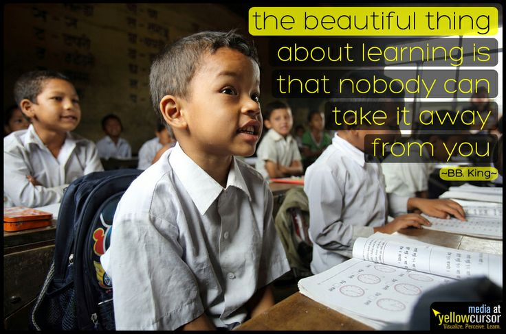 """""""The beautiful thing about learning is that nobody can take it away from you"""" - BB King"""