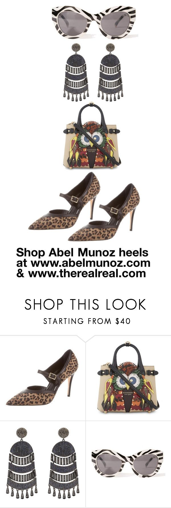 www.therealreal.com by abelmunozaccessories on Polyvore featuring Abel Muñoz, Burberry, Nush, Cheap Monday and mayabee88