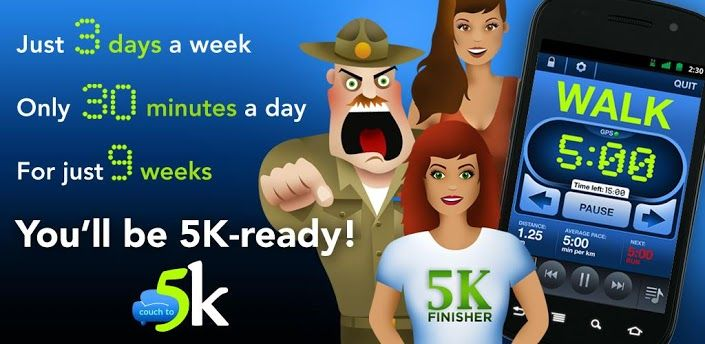 Couch to 5k app. This is so effective, even for someone who has not run.