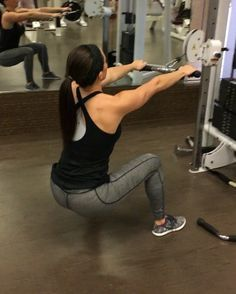 Jockey rows  Full back workout: bowmarfitness.com - These are a great back and butt workout. A little difficult at first to get the movement but once you do, they are amazing! Make sure the cable is right around your belly button when you're standing. Let me know if you have any questions! I did 5 sets of 20 - BOWMARFITNESS.COM