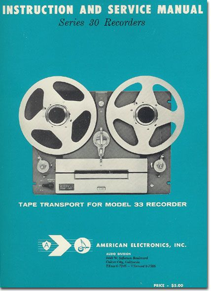 79 best the art of manuals images on pinterest books blankets and instruction and service manual for the american electronics model 33 reel to reel tape recorder fandeluxe Gallery