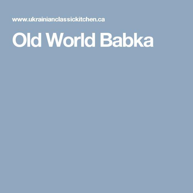 Old World Babka
