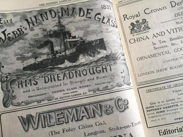 Early Pottery Gazette China Glass Trade Magazine April 1912 (Early Adverts)