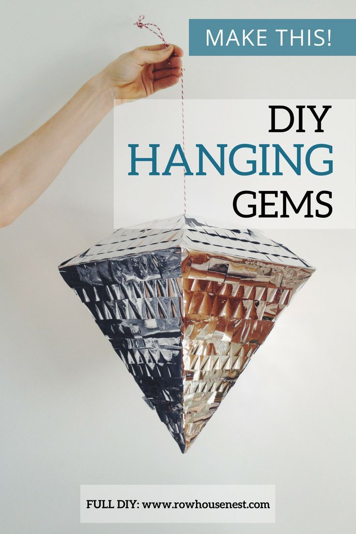 The perfect gem-tastic party decor! DIY Hanging Gems! Lots of different sizes and designs to make your own party bling #diyparty #gems #partyideas
