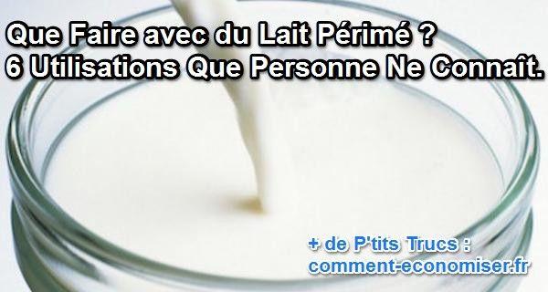 Votre lait a tourné ? Ne le jetez surtout pas ! Découvrez ces 6 utilisations surprenantes et évitez le gaspillage.  Découvrez l'astuce ici : http://www.comment-economiser.fr/utilisations-lait-tourne-caille.html?utm_content=bufferc14a7&utm_medium=social&utm_source=pinterest.com&utm_campaign=buffer