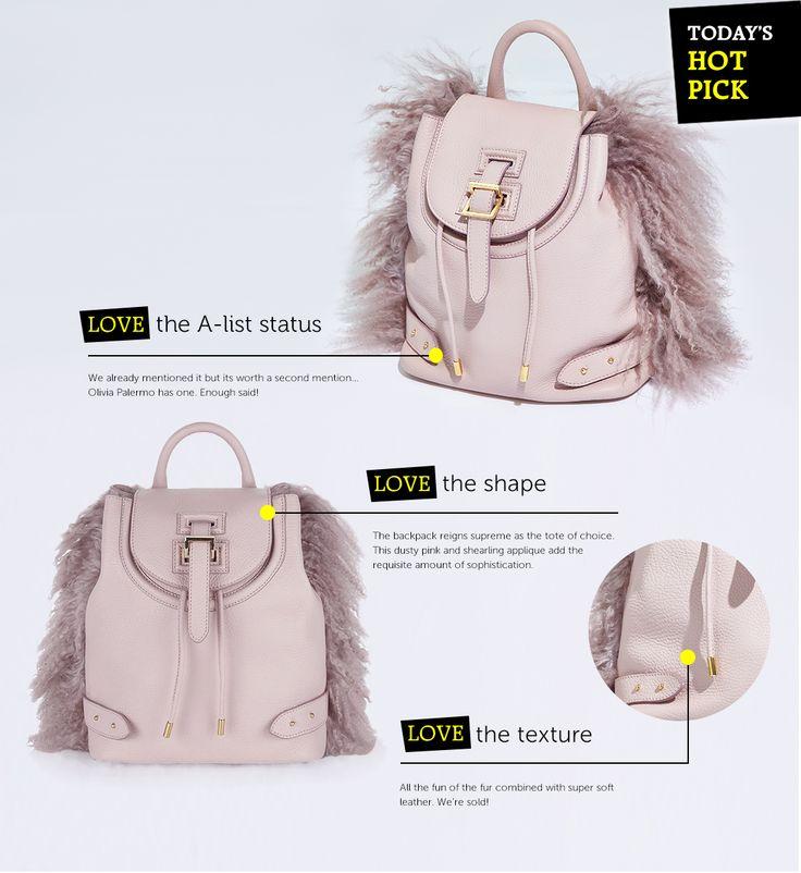 Meli Melo Shearling Backpack