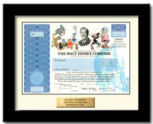 Disney Will No Longer Issue Paper Stocks as of 10/16/13!!! HURRY TO ORDER ONE NOW! here's one company that will frame em up nice, but there are many others out there too...