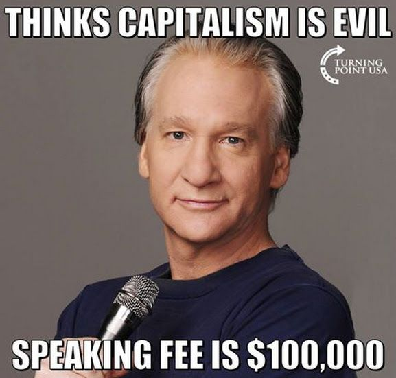 HYPOCRITE: Liberals think capitalism is evil--except when THEY profit from it. It's o.k. for THEM,not those who do not share their belief system.