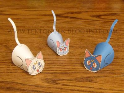 Tektonten Papercraft - Free Papercraft, Paper Models and Paper Toys: Paper Sailor Moon Cat Toys