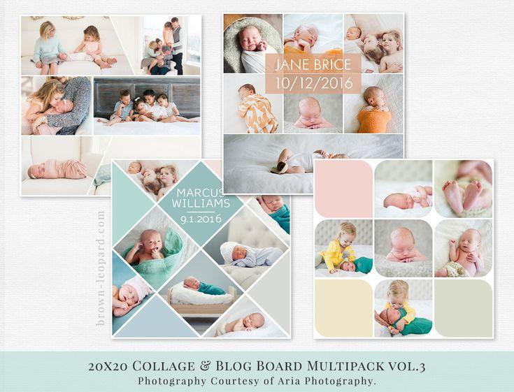 Collage & Blog Board Multipack vol.3 | Brown Leopard