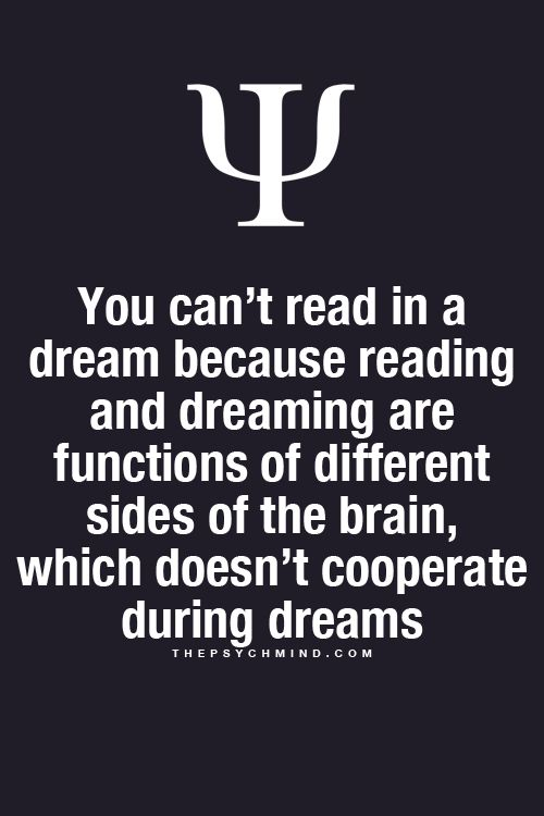 you can't read in a dream because reading and dreaming are functions of different sides of the brain, which doesn't cooperate during dreams.