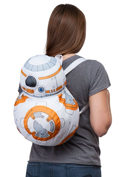This Star Wars BB-8 Backpack Buddy is ready to hold all your stuff - well, small stuff at least. This little droid ain't too big, you know. The BB-8 Backpack Buddy features two adjustable backpack straps in case you need a droid along for the ride.