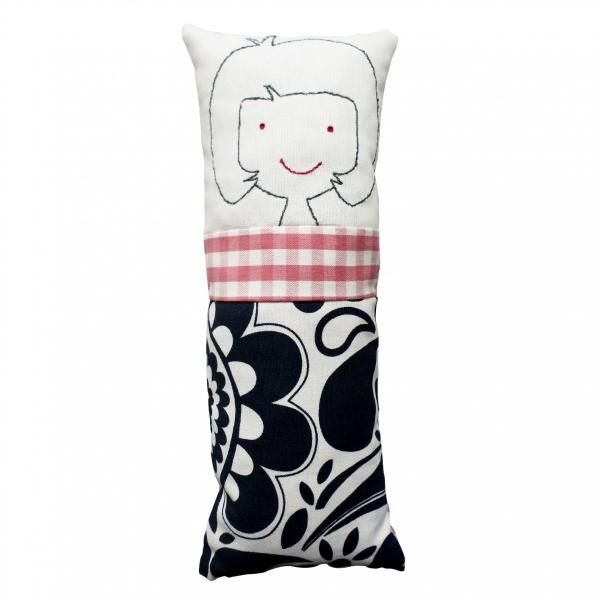 These colorful Pillow - Dolls are soft pillows with soft and simple facial features that children in all ages can hold and cuddle at night, carry around and play with.