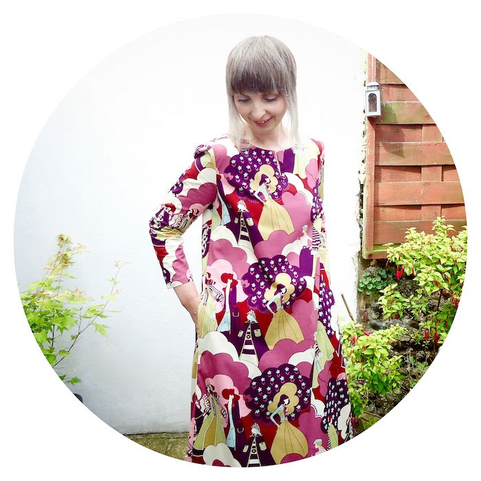 Groovy floor length Esme Kaftan dress made by @ivyarch from #lottaeverydaystyle book