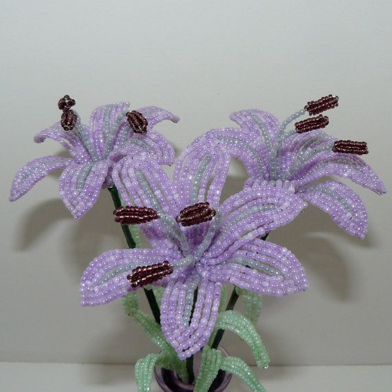 162 best my beaded flowers images on