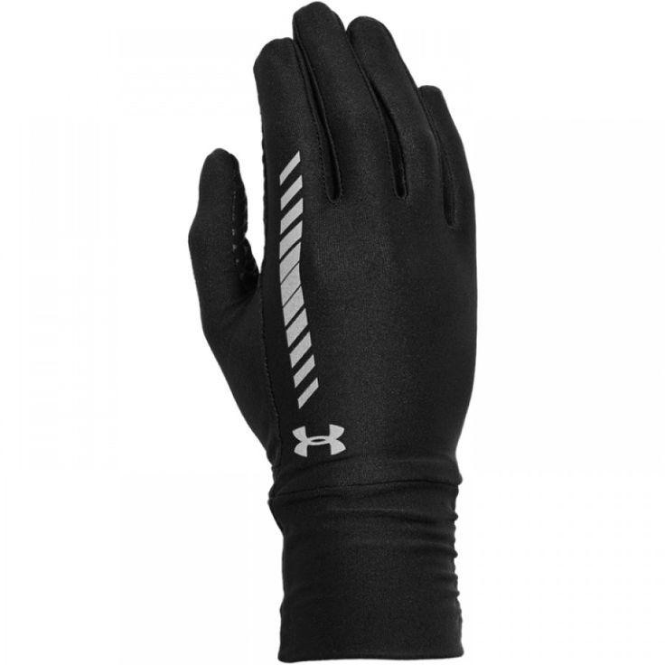 Dámské černé běžecké rukavice Under Armour s reflexními prvky