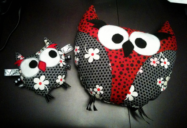 Super cute owl taggie teether and pillow - by KLTboutique