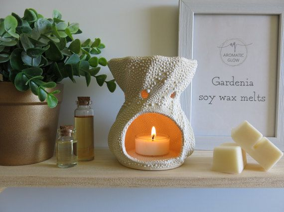 Gardenia Fragrance Wax melts Soy wax melts Natural by AromaticGlow