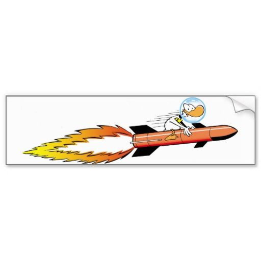 Ding Duck from the Swamp is rocketing through the atmosphere to infinity and beyond. #zazzle #bumpersticker #rockets #cartoonduck #funnycheapgifts $5.75 http://www.zazzle.com.au/ding_duck_rocket_bumper_sticker-128924360423525776?rf=238100710189761270