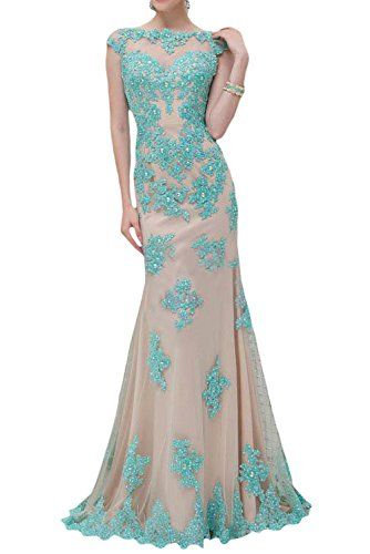 Sunvary 2015 cap sleeves mermaid lace prom evening dresses for Brown lace wedding dress