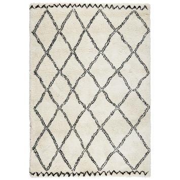 Vloerkleed Varamin Zwart/wit 160x230 cm kopen? Verfraai je huis & tuin met Vloerkleden  van KARWEI