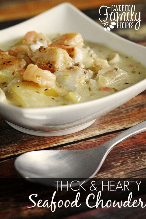 My favorite seafood chowder-- hands down. Better than any restaurant!