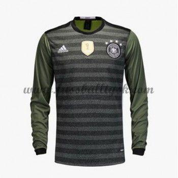 Günstige Fußballtrikots Deutschland Nationalmannschaft 2016 Auswärtstrikot Langarm