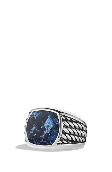 David Yurman 'Maritime' Rope Signet Ring with Pietersite available at #Nordstrom