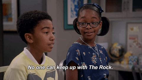 New party member! Tags: blackish the rock diane diane blackish dwayne johson no one can keep up with the rock