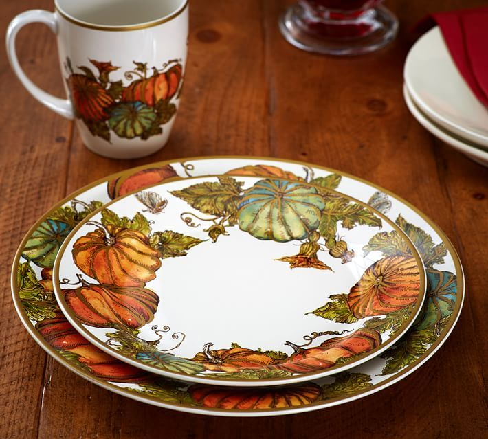 Quot Heritage Pumpkin Dinnerware Quot Quot Happy Thanksgiving