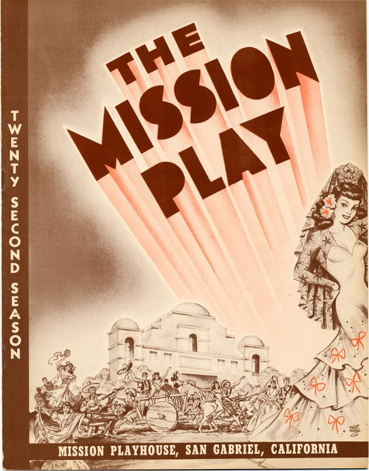 The Mission Play, John Steven McGroarty's contribution to California culture, tells the idealized story of Junipero Serra, the Franciscan priest responsible for the founding of eight of the twenty-one coastal Catholic missions in Alta Calfironia, between 1769 and 1782. First performed on August 29, 1912, McGroarty's play ran for more than 20 years and was viewed by more than two and a half million people. McGroarty Arts Center. San Fernando Valley History Digital Library.: Valley History, Mcgroarty S Contribution, Mcgroarty Arts, History Digital, Mcgroarty S Play, Steven Mcgroarty S, Catholic Missions, 20 Years