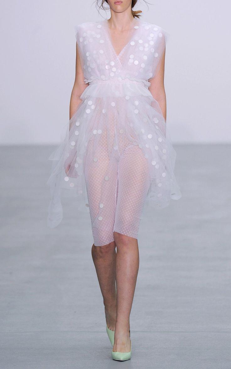 2017 Eloise V Neck Dot Dress by Emilio de la Morena | Moda Operandi…