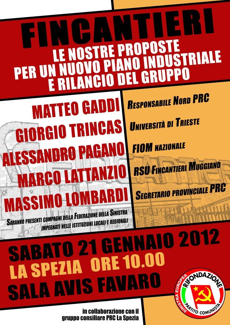 Iniziativa su Fincantieri  21.01.2012