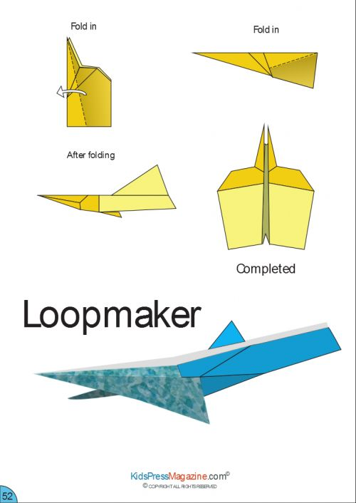 for kids how to make a paper jet