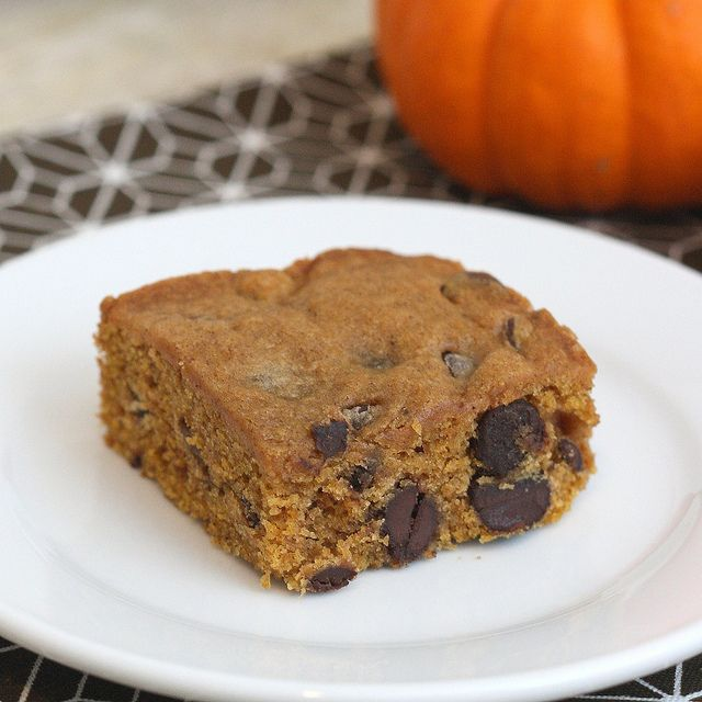 Pumpkin Chocolate Chip Squares by Tracey's Culinary Adventures, via ...