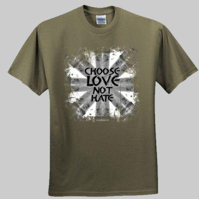 """Choose love not hate"" Designer Ethical Streetwear by Salamanda Co - Salamanda Co"